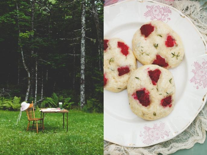 raspberry thyme scones diptych 2